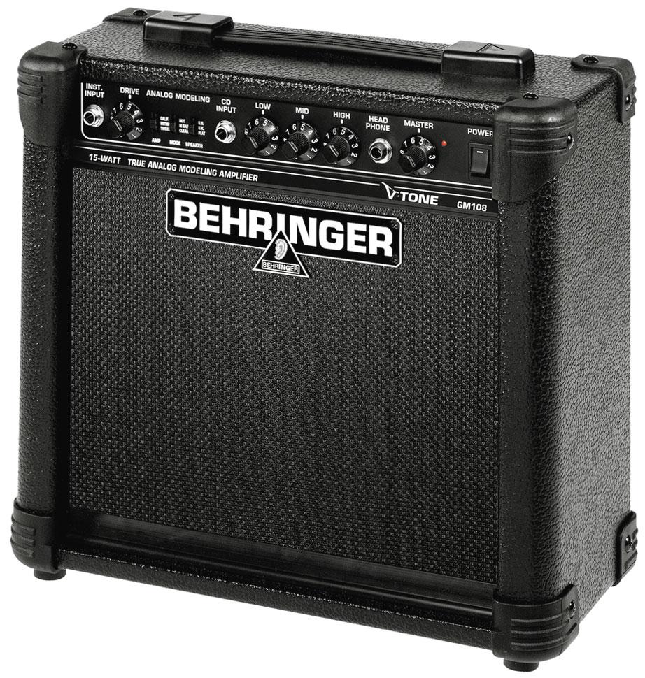 BEHRINGER GM 108 V-TONE Behringer GM 108 V-Tone Гитарный усилитель / 15 Вт / 8