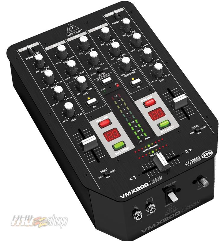 BEHRINGER PRO MIXER VMX200USB Профессиональный Dj микшер с ультра-низким уровнем шума и высококачественными микрофонными предусилителями / 2 канала / Usb - разъем