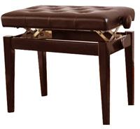 Деревянная банкетка для пианино, цвет коричневый.
