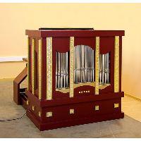 SKRABL Box organ modern 4 stops,C-g''' bass/diskant