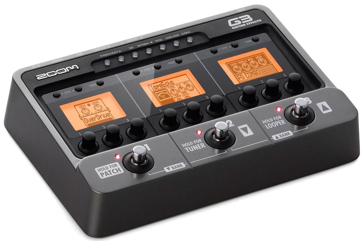 ZOOM G3 Гитарный процессор Zoom G-3, новое поколение в индустрии обработке гитарного звука. 107 типов эффектов, использование до 3-х одновременно. Сэмплирование, встроенный лупер.
